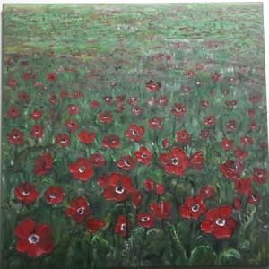 ציור שמן פרחים