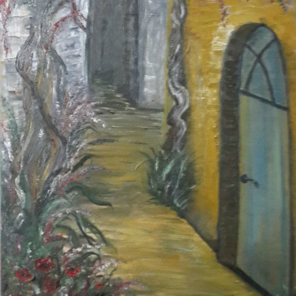 ציור נוף סמטה