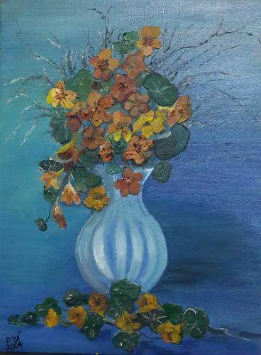 תמונת אגרטל עם פרחים