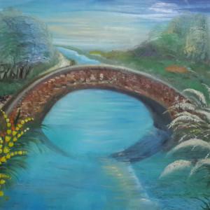 ציור גשר מעל המים
