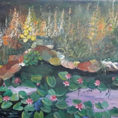 ציור צמחי מים