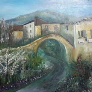 ציור כפר אירופאי
