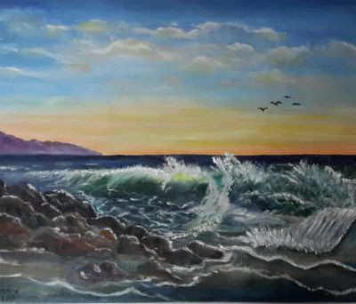 ציור ים סוער