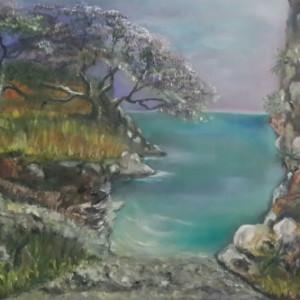 ציור ירידה לחוף